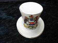 Arcadian China Model of a Top Hat with Oxford Crest