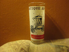Antique Autos Drinking Glass by Anchor Hocking 1900 Oldsmobile 1960's-70's