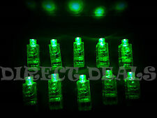 100 pcs All Green Party LED Laser Finger Light Beam Ring Club Rave