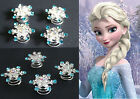 Frozen Elsa Jelweled Snowflake Twists Spins Hair Pin (pack of 5)