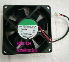 2X  DC 12V 2 Pin 80mm Brushless Computer Chassis Cooler Cooling IDE Fan PC Black