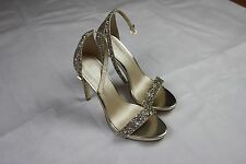 NEW - Women's Shoe Box Venice Mini Platform Minimal Sandal In Gold UK 6 EU 39