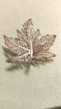 Pretty,Vintage,Sterling Silver Filigree Maple Leaf Brooch, Marked, made in Germa