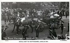 Nottingham Royal Visit 1914 Royalty Mansfield Road unused RP old pc   Marshall
