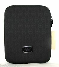 NEW-MICHAEL KORS ELECTRONICS BLACK NEOPRENE MK LOGO IPAD TABLET CASE/COVER