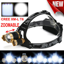 15000 Lumens CREE LED Headlamp Torch Cree 3x XM-L T6 Headlamp Head Light Lamp UK
