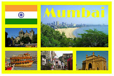 MUMBAI, INDIA - SOUVENIR NOVELTY FRIDGE MAGNET - SIGHTS / TOWNS - GIFTS - NEW