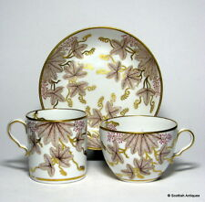 SPODE CANDLELIGHT PATTERN PORCELLANA TRIO c1806