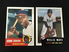 WILLIE MAYS & HANK AARON 1953 TOPPS ARCHIVES RETRO REPRINT TOPPS BASEBALL CARDS