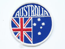 VINTAGE AUSTRALIA FLAG SOUTHERN CROSS EMBROIDERED PATCH WOVEN CLOTH BADGE