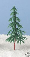 4 x Plastic Christmas Trees Christmas Cake Or Craft Decoration 80 mm