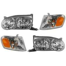 2001 2002 TOYOTA COROLLA HEAD & CORNER LIGHT LAMP LEFT & RIGHT PAIR 4PCS SET