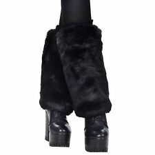 New Loose Black Leg Warmer Womens Fashion Faux Fur Winter Legging Socks