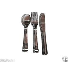 12-PC Silver-Look Stainless Steel-Look Plastic Cutlery Set,silverware,spoon,fork