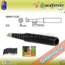 High Quality Soldering Iron Tips Real Lead Free 900M-T-3.2D Black