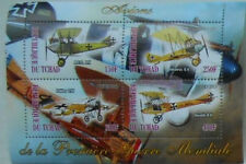 ** Biplanes of 1. World War / vintage aeroplanes Aircraft - s/s Tchad 2013 #E064