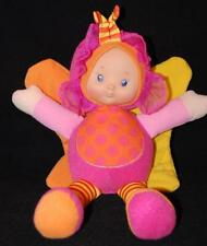 "Hong Kong City Toys Butterfly Baby Doll Pink Orange Yellow 11"" Plush Stuffed"