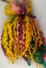 Wensleydale Locks in Rainbow for Doll making and Spinning 1 oz
