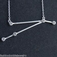 Aries Constellation Necklace - 925 Sterling Silver - Stars Horoscope Zodiac NEW