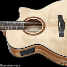 Teton STA130SMCENT Acoustic Electric Guitar & H/S Case, Spruce & Spalted Maple
