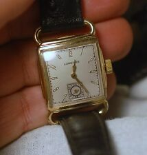 Vintage Swiss made watch LONGINES ART DECO hand winding,working condition