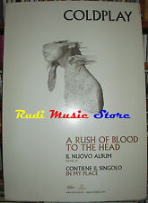 CARTONATO PROMO COLDPLAY A rush of blood to the head 48 X 68 cd dvd vhs lp live