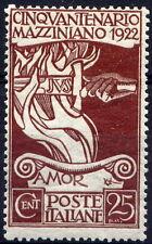Regno 1922 Mazzini n. 128 * (mr090)