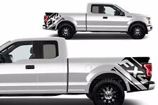 """Vinyl Graphics Decal Rear Wrap Kit for 15-17 Ford Truck F-150 """"FX4"""" Matte Black"""