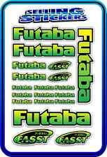 FUTABA SERVO RADIO RX TX 2.4G FLIGHT REMOTE CONTROL STICKERS FASST GREEN YELLO B