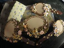 Fiches marques pour pots de fleurs en céramique. Romantiques,boite avec violette