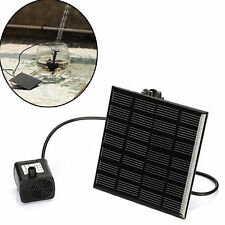 Solar Power Panel sets Brushless Cycle Water Pump Submersible Garden Watering ah