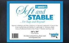 SOFT AND STABLE Black 100% Polyester Stabilizer 18in x 58in by Annie.com