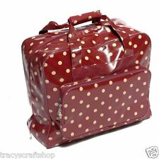 Sewing Machine Bag Sewing Machine Storage Bag in Red Spot Vinyl Material