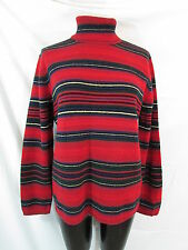 Ralph Lauren Indian Blanket Sweater L Striped Sweater Turtleneck Sweater Wool