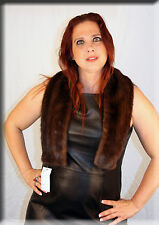 New Brown Mink Fur Scarf or Collar - Efurs4less