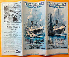 May 10, 1935 Eastern Steamship Lines Old Dominion Line Time Table