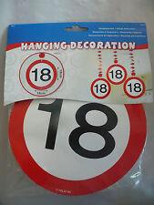 """18. GEBURTSTAG! 3 Stück hängende Deko-Spiralen """"18"""" zum 18. Geburtstag! NEU!"""