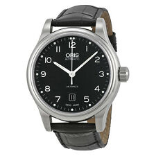 Oris Classic Date Automatic Black DIal Steel Mens Watch 01 733 7594 4094 07 5