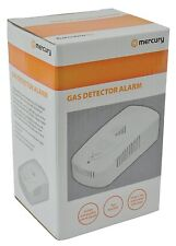 Mercury 350.134 | Natural Household GAS LEAK DETECTOR ALARM 1.5m Mains Lead Plug