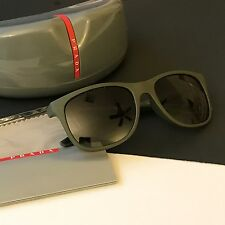 Prada SPS03O Men Active Sport Grey Mirrored Wayfarer Light Weight Sunglasses NWT