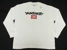 $35 NWT NEW Mens Ecko Unltd Ecko Tag Thermal Shirt Tee White Urban 3XL XXXL L376