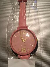 """This Is A Different """"GENEVA"""" Platinum Watch With A Large Round Pink Face & Band"""