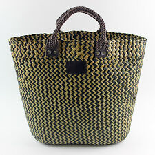 ELEGANT BOUTIQUE BOHO BEACH BAG 100% STRAW SHOPPER TOTE WOMEN HOLIDAY SHOPPER
