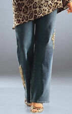 NEU WOW! STRETCH JEANS BOOTCUT PERLEN + PAILLETTEN GR 40 SO BIN ICH blue *699328