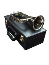 McWilliams PROFESSIONAL TUNEABLE MILITARY BEAUTIFUL SILVER BUGLE WITH HARD CASE