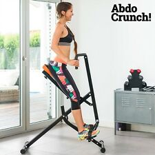 ABDO CRUNCH TOTAL FITNESS EXERCISER HOME GYM EQUIPMENT ABS TONER BUM LEGS TONER