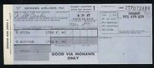 MOHAWK airlines vintage US airways TICKET airline coupon 1967 Utica Buffalo aa