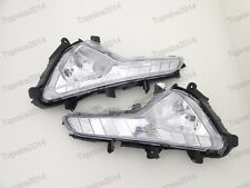 1Pair Clear Front Bumper Fog Lights Lamps For Kia Sportage 2014-2015