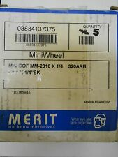 "NEW MERIT 08834137375 FLAP WHEEL 2 X 1 X 1/4""SK QTY OF 5"