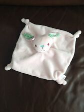 Mini Club Miniclub Boots Pink Green Bunny Rabbit Flat Comforter Baby Soft Toy